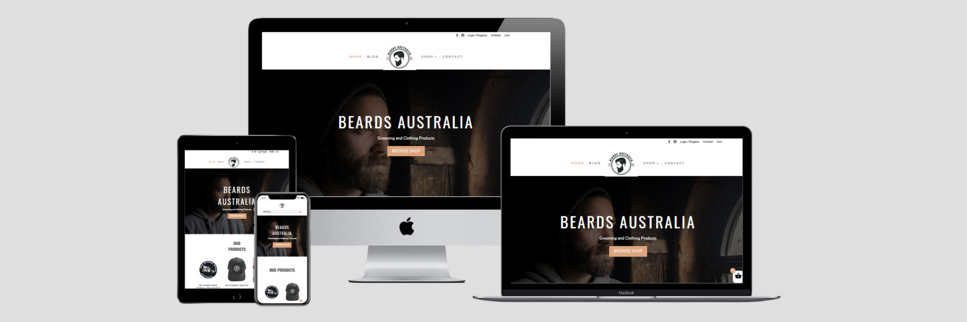 Beards Australia - New Website Design