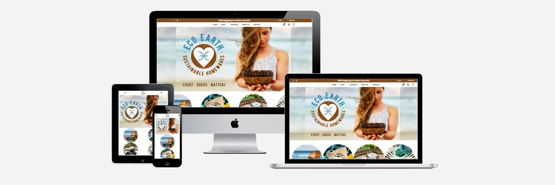Eco Earth Homewares - New Website Design