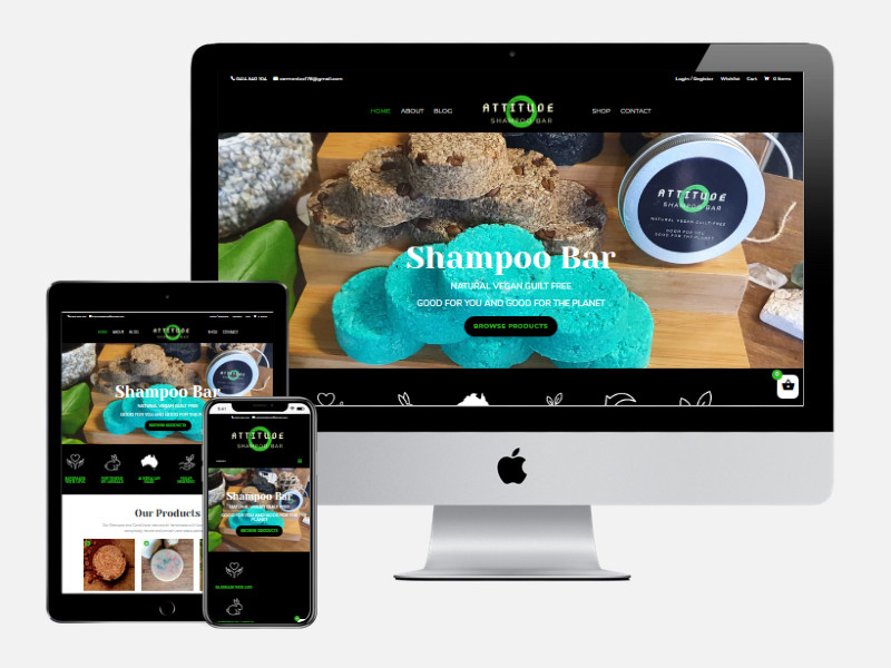 Attitude Shampoo Bar – New E-Commerce Website Design