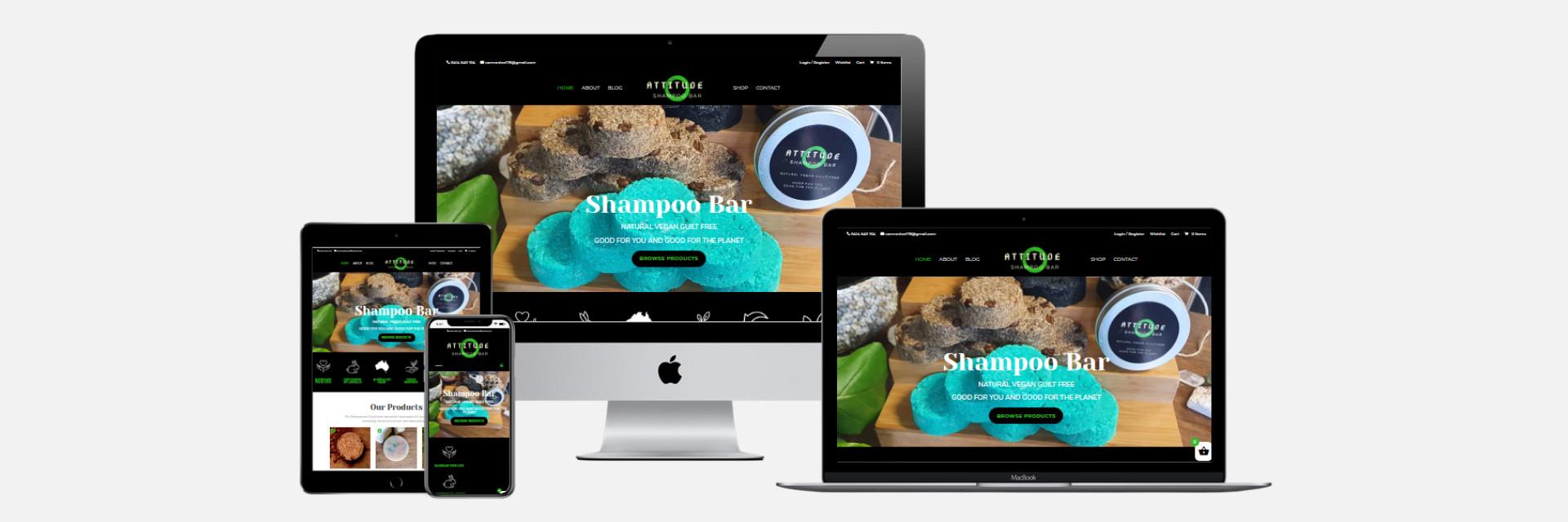 Attitude Shampoo Bar - New Website Design