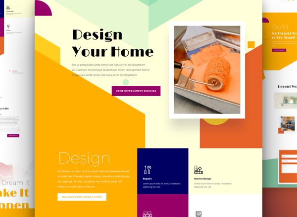 Home Improvement - Divi WordPress Website Design