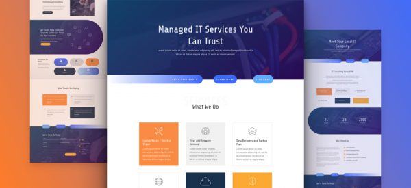 IT Services - Divi WordPress Website Design