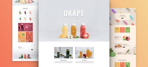 Fruit Juice Shop - Divi Website Design