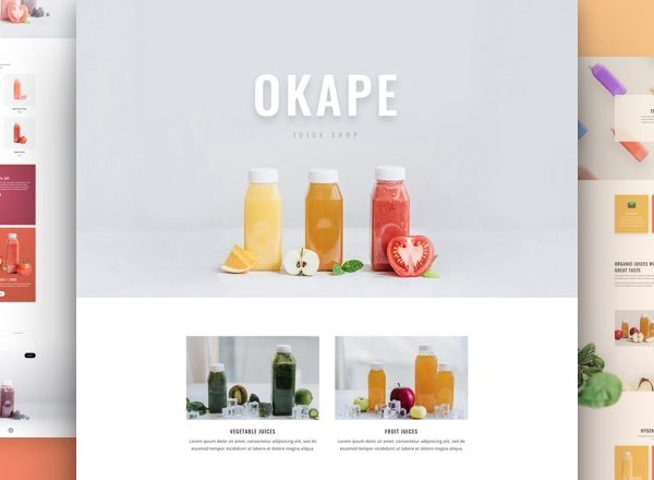 Fruit Juice Shop - Divi Website Design