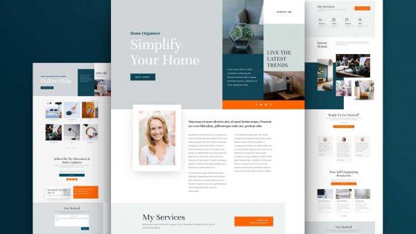 Home Organiser Website Design