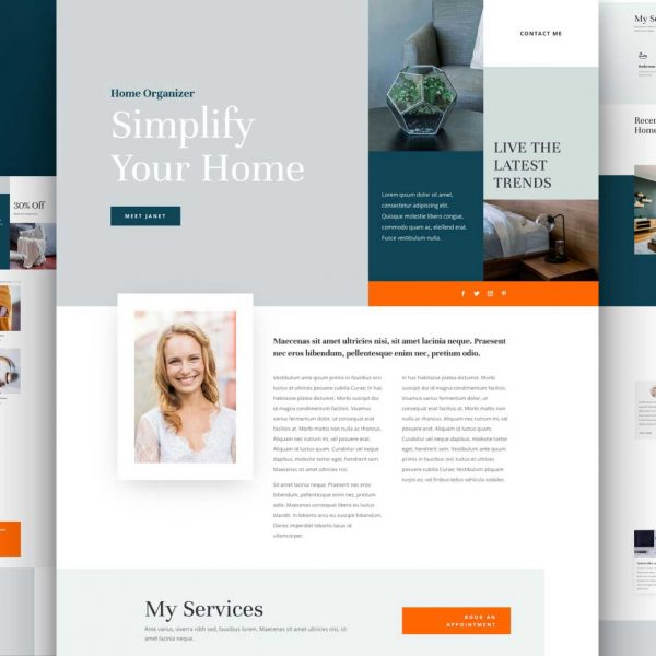 Home Organiser Website Design