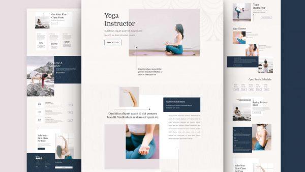 Yoga Instructor Website Desing