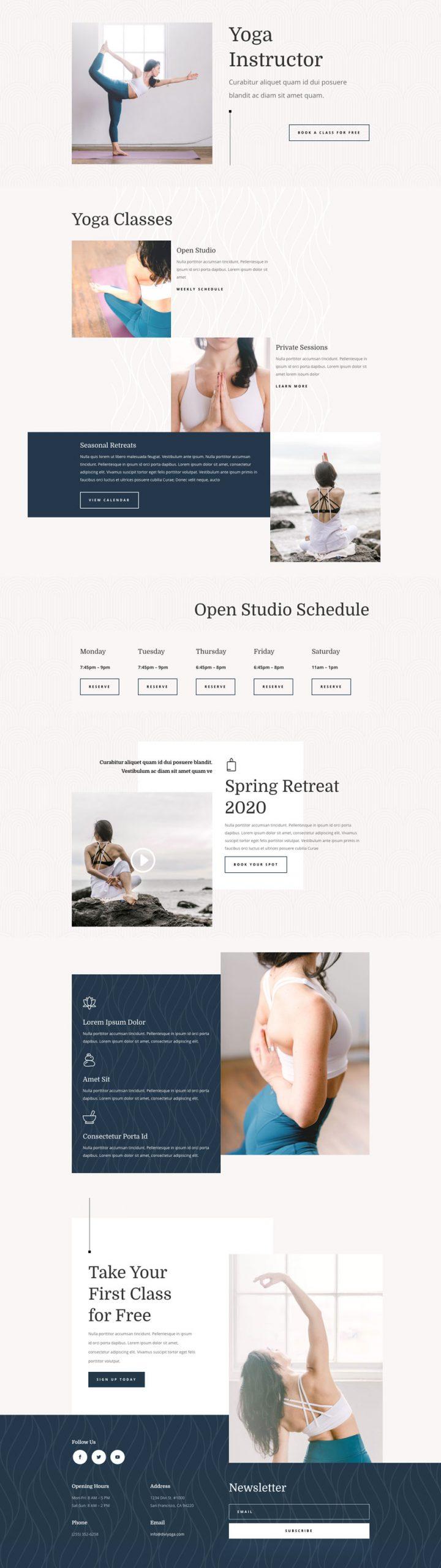 Yoga Instructor Website Design