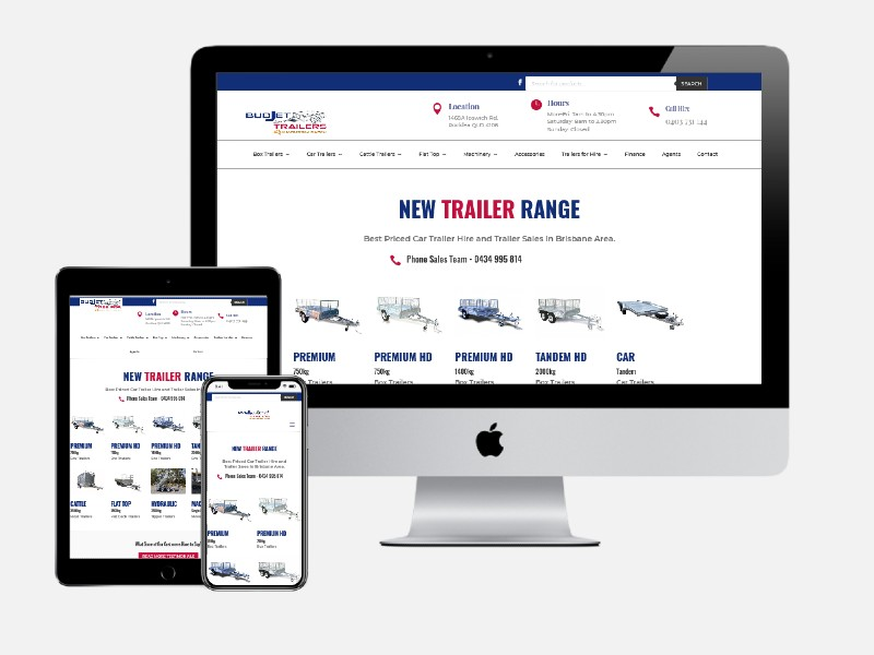 Budjet Trailer Hire – Revamped E-Commerce Website Design