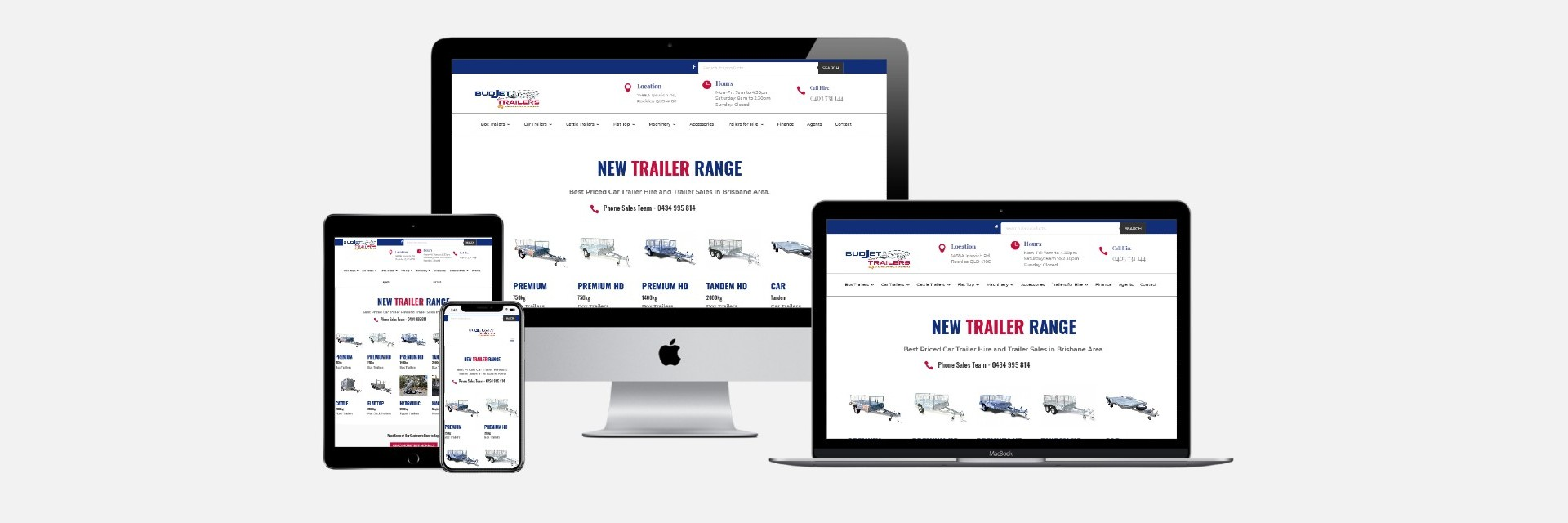 Budjet Trailer Hire - Revamped Website Design