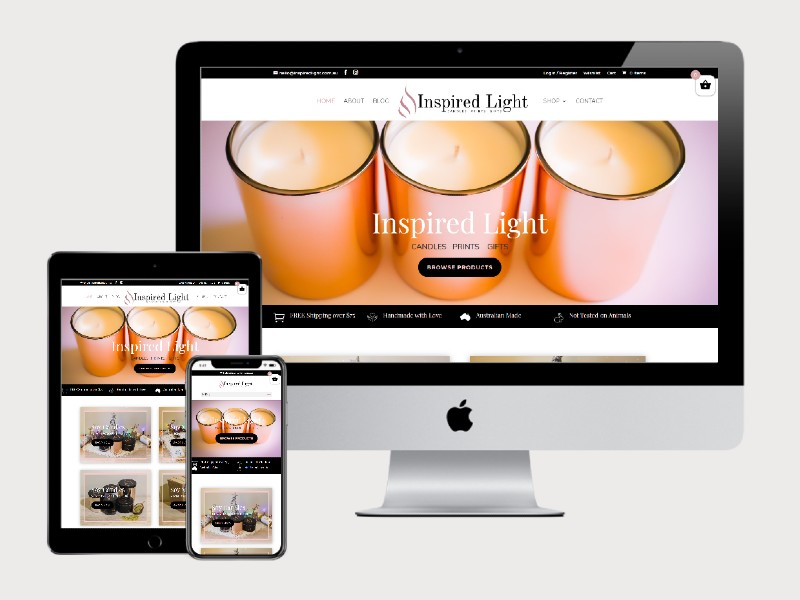 Inspired Light – New E-Commerce Website Design