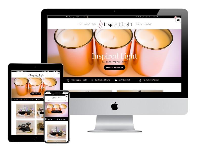 Inspired Light - ECommerce Website Design